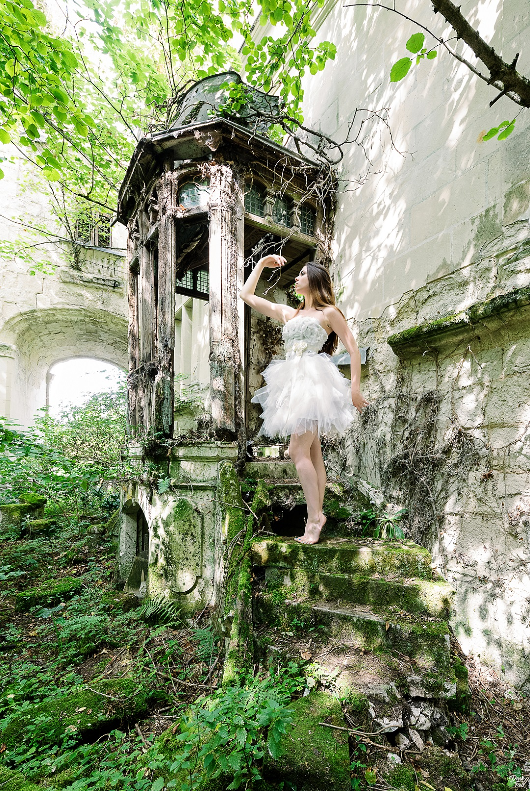 urbex, model, princess, castle